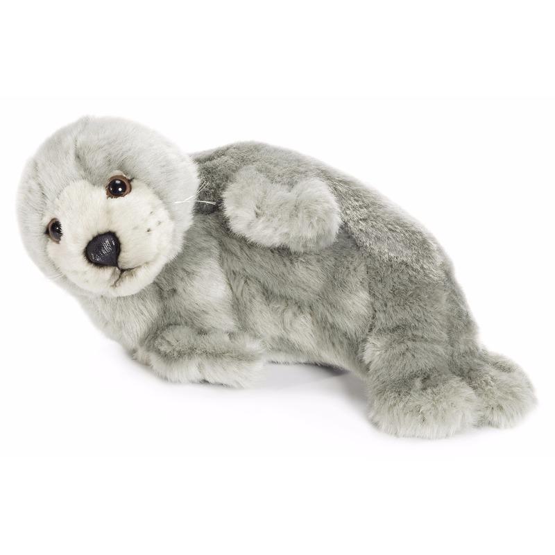 Pluche WNF grijze zeehonden knuffel 24 cm