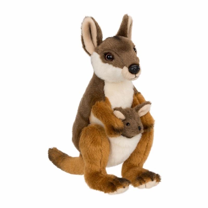 Pluche WNF kangoeroe met baby knuffel 19 cm