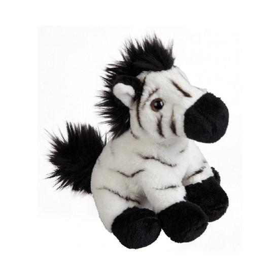 Pluche zebra knuffeldieren 15 cm