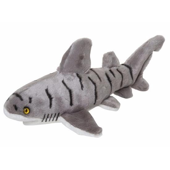 Pluche zeedieren knuffel zandtijgerhaai 30 cm