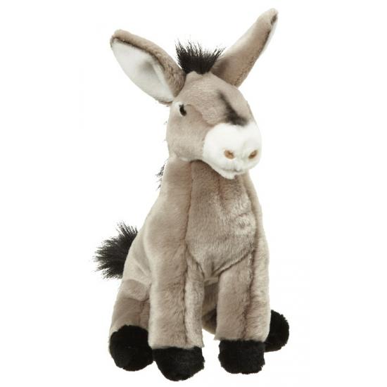 Pluche zittende ezel knuffel 26 cm