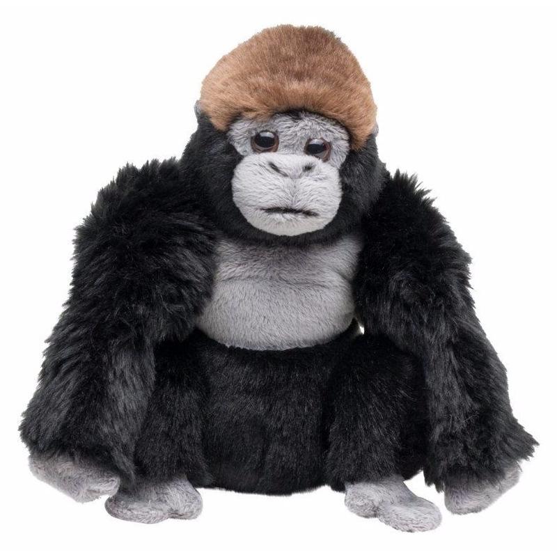 Pluche zittende gorilla knuffel 18 cm