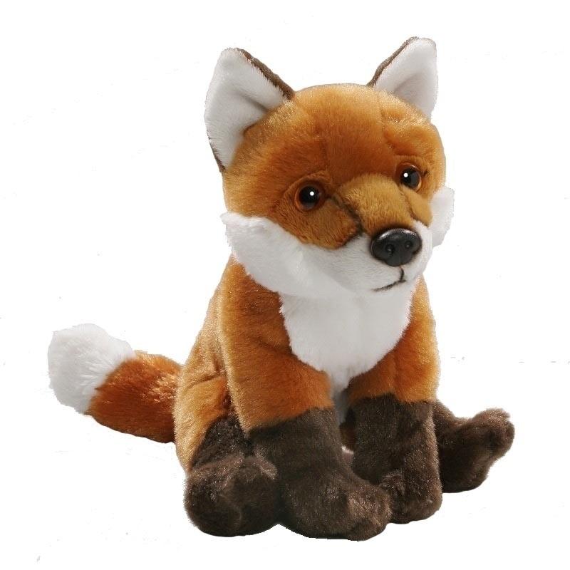Pluche zittende vos knuffel 19 cm