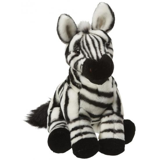 Pluche zittende zebra 27 cm