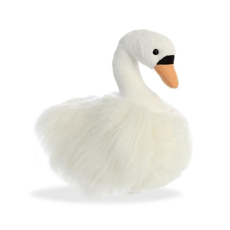 Pluche zwaan/zwanen vogel knuffel 30 cm speelgoed