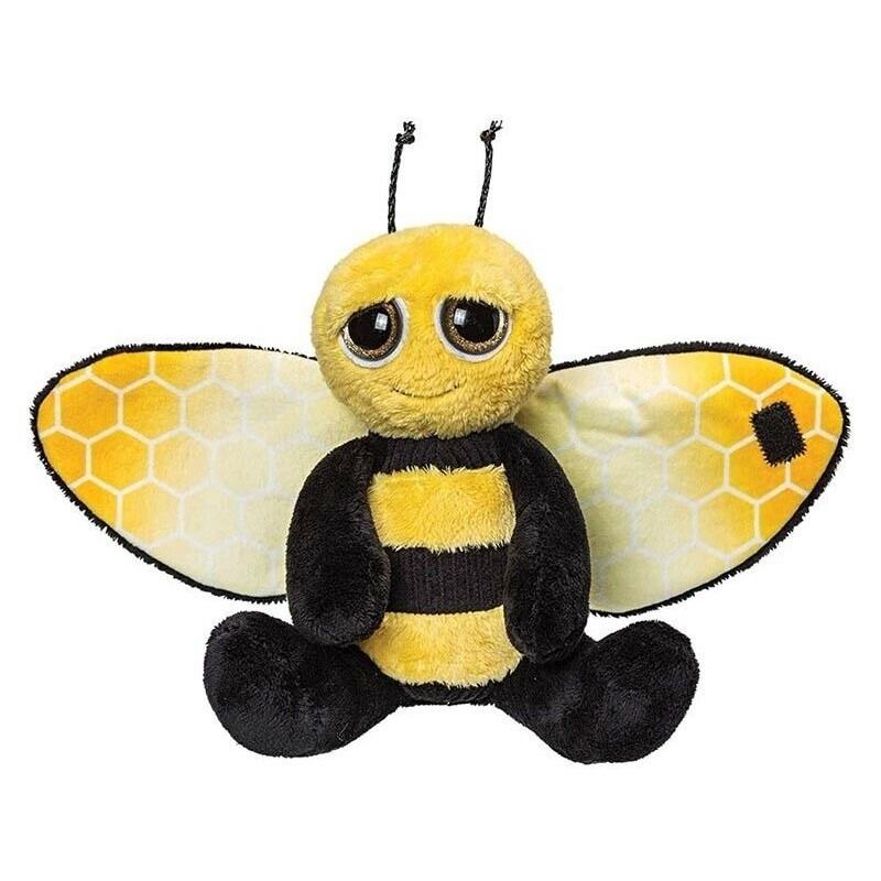 Pluche zwart/gele bij knuffel 18 cm speelgoed