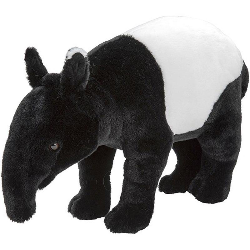 Pluche zwart/witte tapir knuffel 40 cm speelgoed