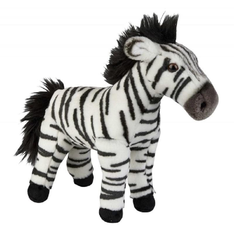 Pluche zwart/witte zebra knuffel 28 cm speelgoed
