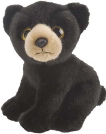 Pluche zwarte beer knuffeldier 18 cm