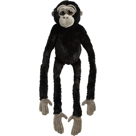 Pluche zwarte gorilla aap/apen knuffel 100 cm speelgoed