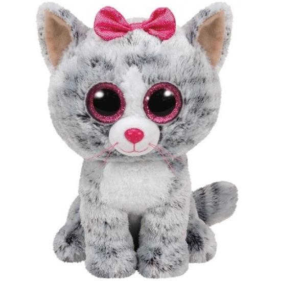 Poes/kat Ty Beanie knuffel Kiki 24 cm