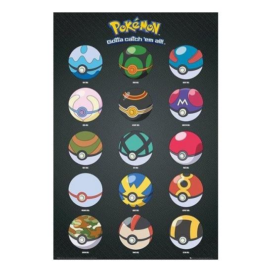Pokemon poster Pokeballs Pokemon Woonaccessoires