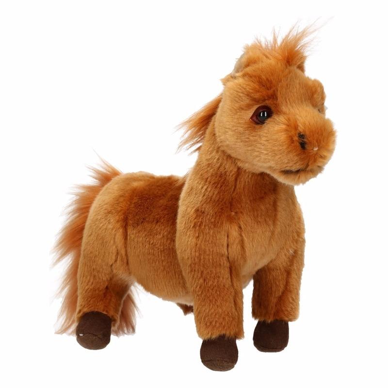 Pony knuffeldieren bruin 36 cm