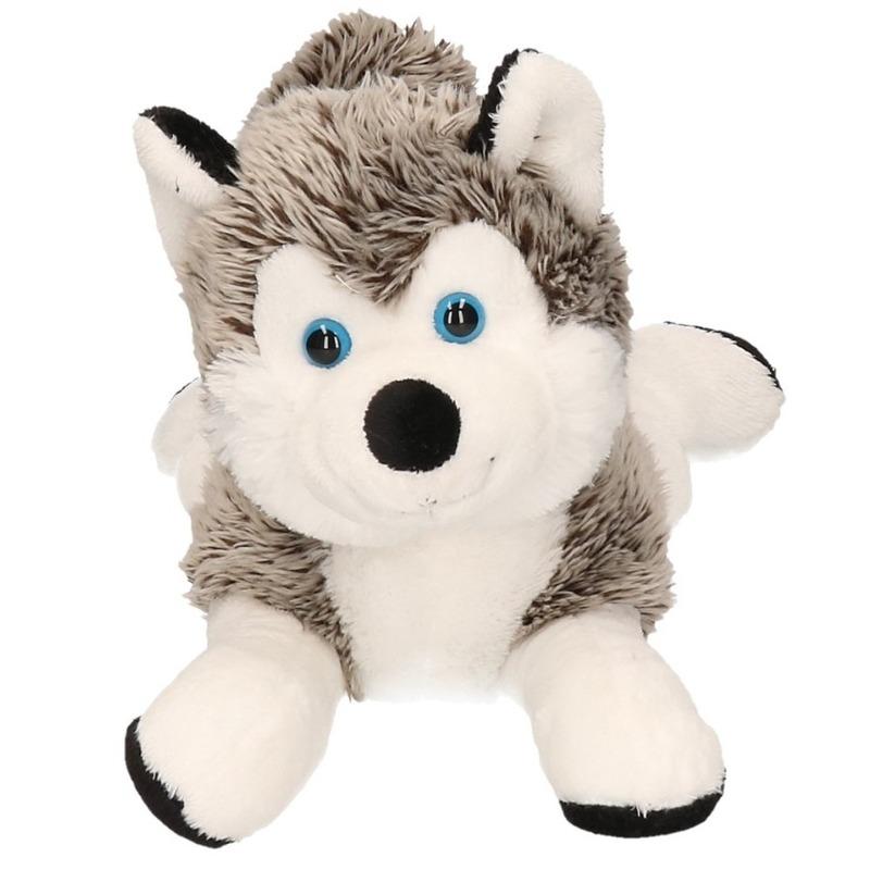 Pooldieren husky knuffel 30 cm