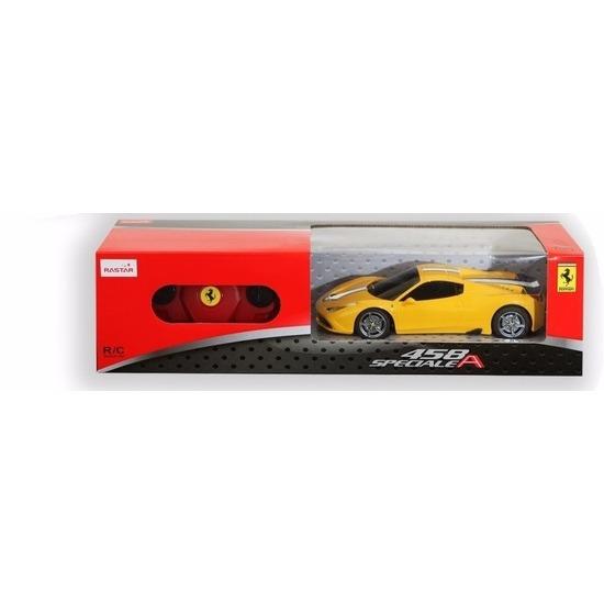 Speelgoedvoertuigen Geen Radiografisch bestuurbare gele Ferrari 458 Speciale auto 1 24