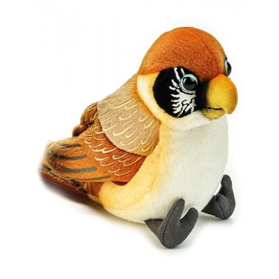Realistische bruine vogel knuffel 14 cm
