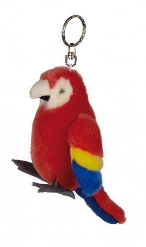 Rode Ara vogel sleutelhanger 10 cm