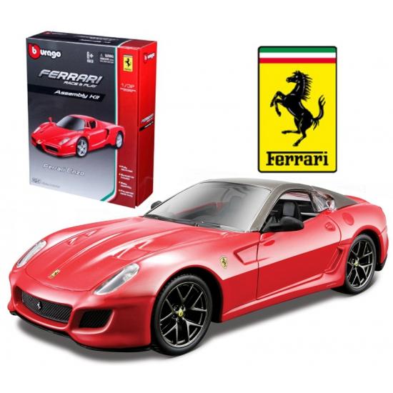 Speelgoedvoertuigen Bburago Rode Ferrari 599 GTO modelauto kit