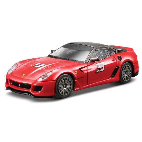 Rode Ferrari 599 XX modelauto 11 cm Bburago Speelgoedvoertuigen