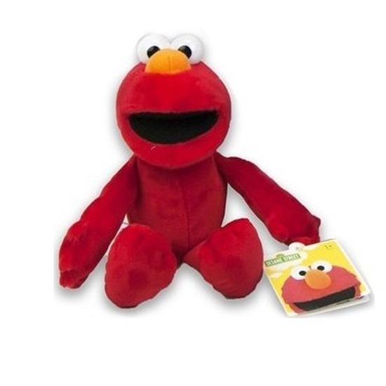Rode pluche Elmo Sesamstraat knuffel/pop 17 cm