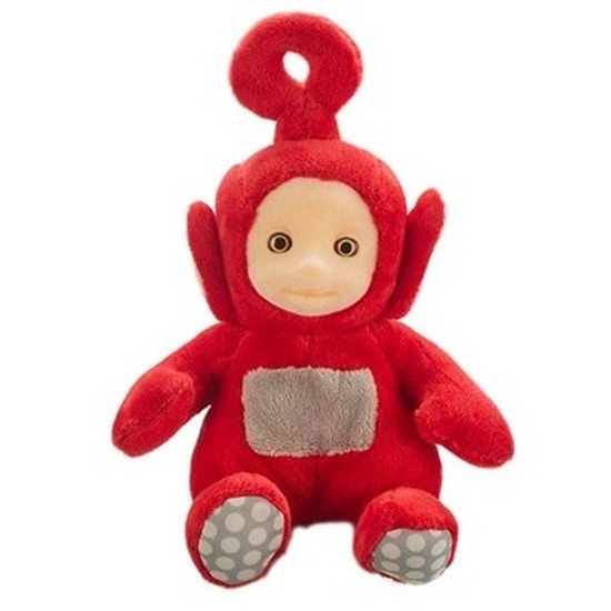 Rode Teletubbie Po knuffel/pop met geluid 20 cm