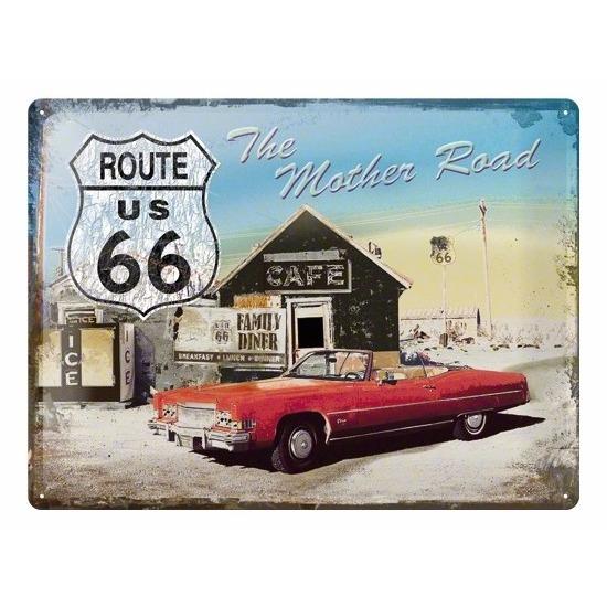 Route 66 wanddecoratie metaal Alkmaar Geen Feestartikelen diversen