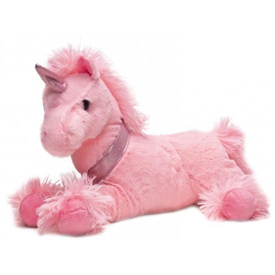 Roze eenhoorn knuffel 33 cm