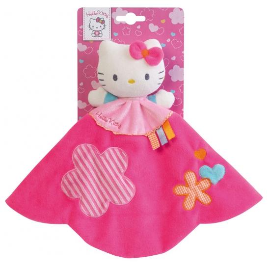 Roze knuffeldoekje Hello Kitty