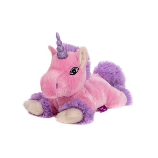 Roze paard knuffel kruik geboorteknuffel 18 cm