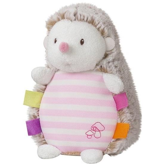 Roze pluche egel/egels knuffel 16 cm speelgoed glow in the dark