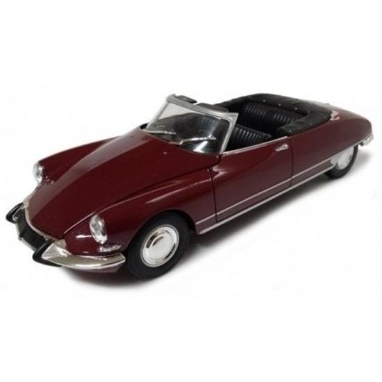 Welly Schaalmodel auto bordeaux rode Citro n DS19 cabrio 1 36 Speelgoedvoertuigen