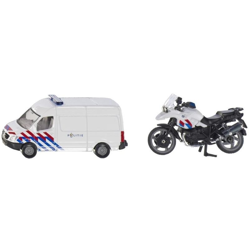 Speelgoedvoertuigen Siku Siku Nederlandse politie speelgoedauto en motor set