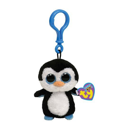 Sleutelclip Ty Beanie pinguin 12 cm