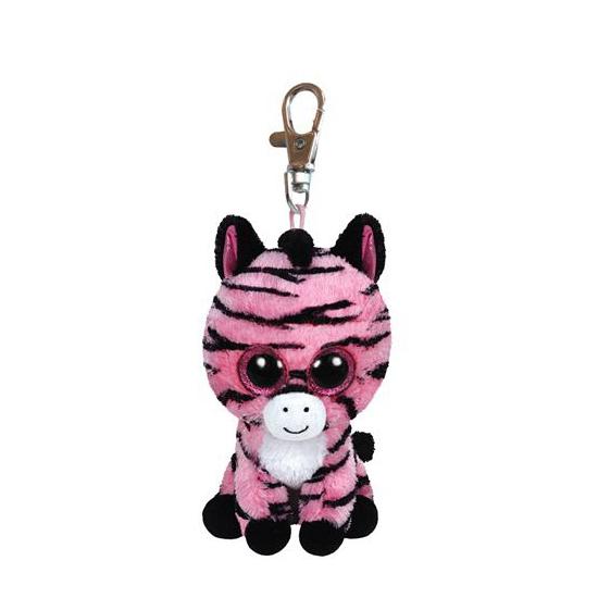 Sleutelclip Ty Beanie zebra 12 cm
