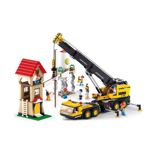 Sluban Sluban bouwpakket Telescoopkraan 62 x 42,5 cm Educatief speelgoed