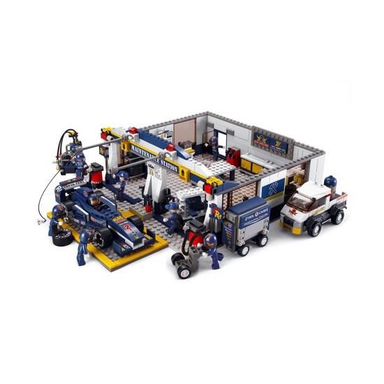 Sluban Sluban speelgoed garage