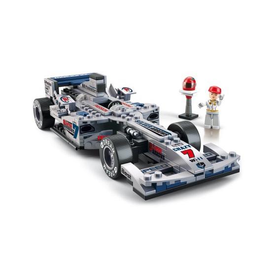 Sluban Sluban speelgoed raceauto zilver