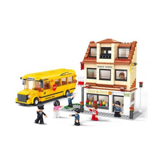 Sluban speelgoed schoolbussen Sluban