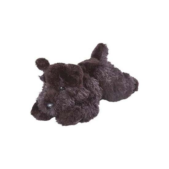 Speegoed knuffel terrier zwart 18 cm