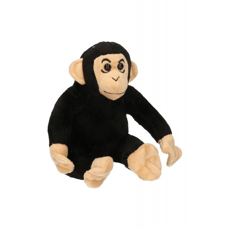 Speel chimpansee knuffel 14 cm