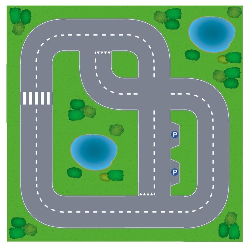 Speelgoed autowegen stratenplan wegplaten dorpje set karton Shoppartners Schitterend