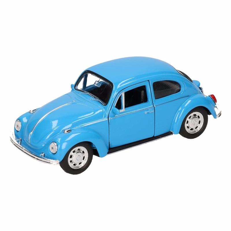 Speelgoedvoertuigen Volkswagen Speelgoed blauwe Volkswagen Kever classic auto 14,5 cm