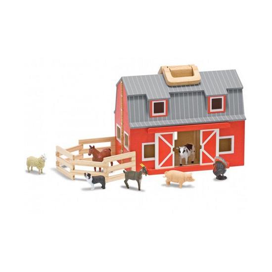 Geen Speelgoed boerderij dieren en schuur Houten speelgoed