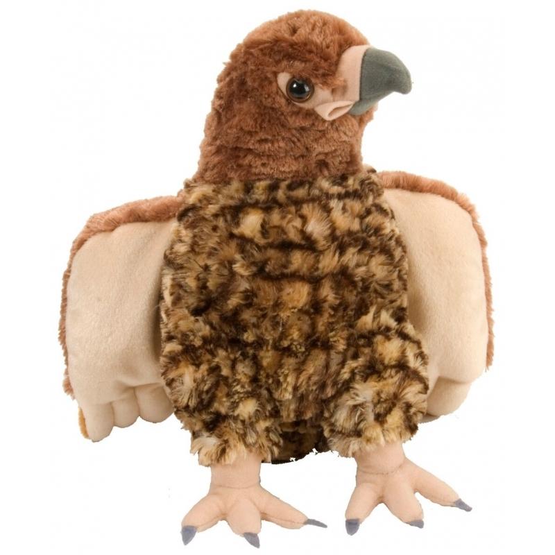 Speelgoed dieren havik knuffel pluche 30 cm