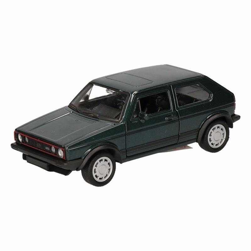 Speelgoedvoertuigen Volkswagen Speelgoed donkergroene Volkswagen Golf I GTI speelauto 12 cm