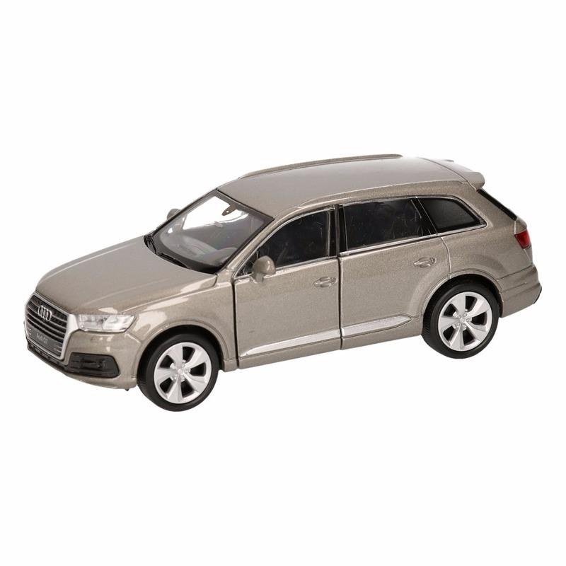 Speelgoedvoertuigen Speelgoed grijze Audi Q7 auto 12 cm