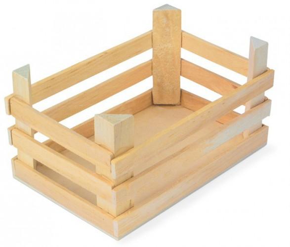 Speelgoed houten kist 18 cm Geen Houten speelgoed