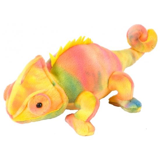 Speelgoed knuffel kameleon 20 cm