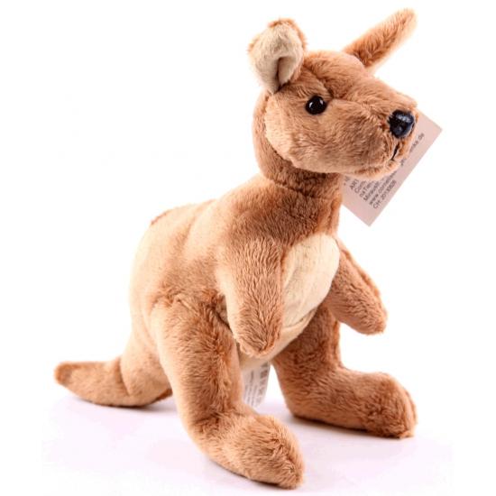 Speelgoed knuffel kangoeroe 19 cm