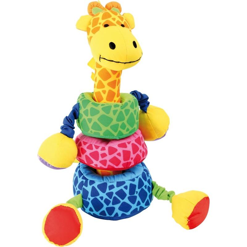 Speelgoed leer knuffeltje giraffe